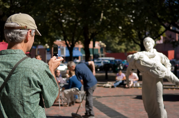 Salt statues in Occidental Park