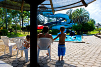 A water park next to the thermal pools.