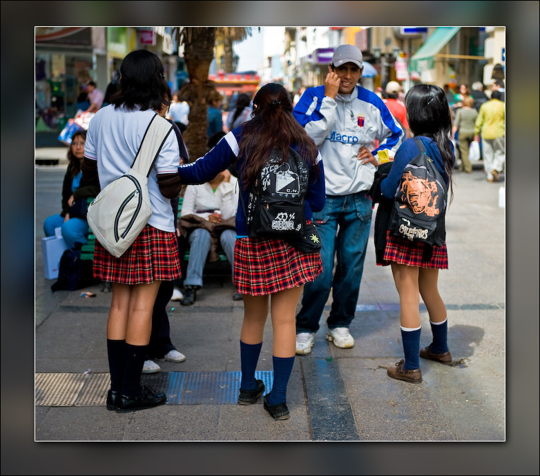 I thought school uniforms were supposed to REDUCE distractions! What the heck?