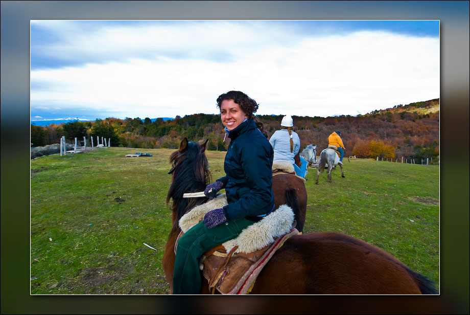 Laura from Holland - Horseback riding in Tierra del Fuego National Park