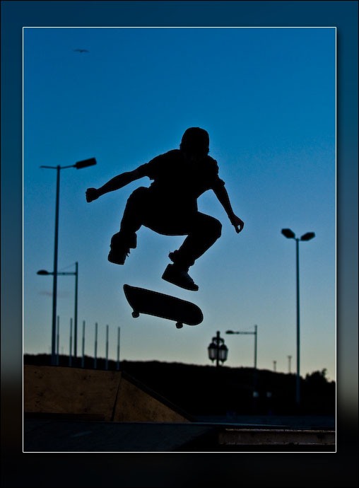 Skateboarder in Puerto Montt, Chile