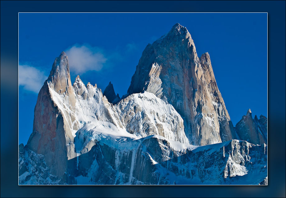Mt. Fitz Roy and surrounding peaks