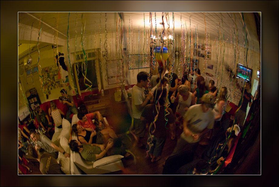 Hostel life at el misti hostel in Rio de Janeiro during Carnaval, 2008