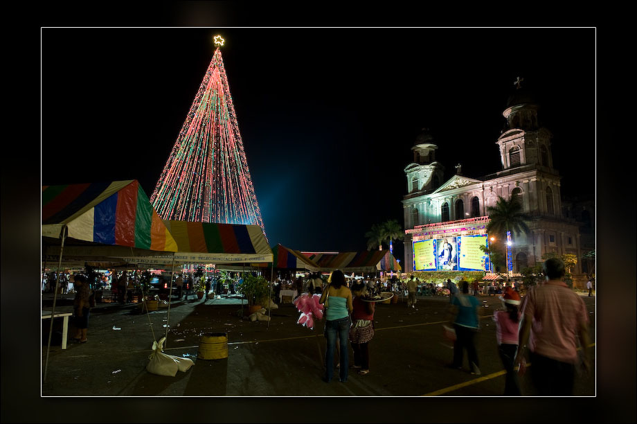 Christmas decorations in Managua.