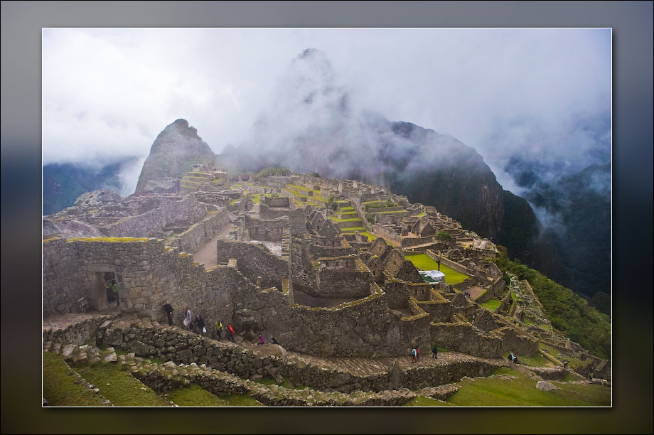 Machu Picchu from part way up to the Sun Gate.