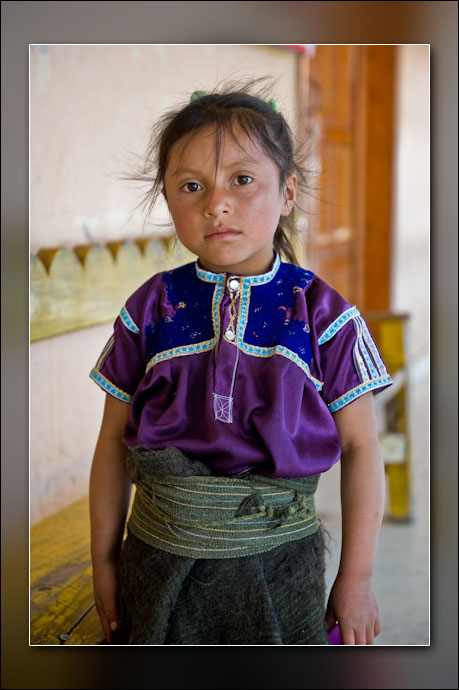 A girl in San Juan Chamula