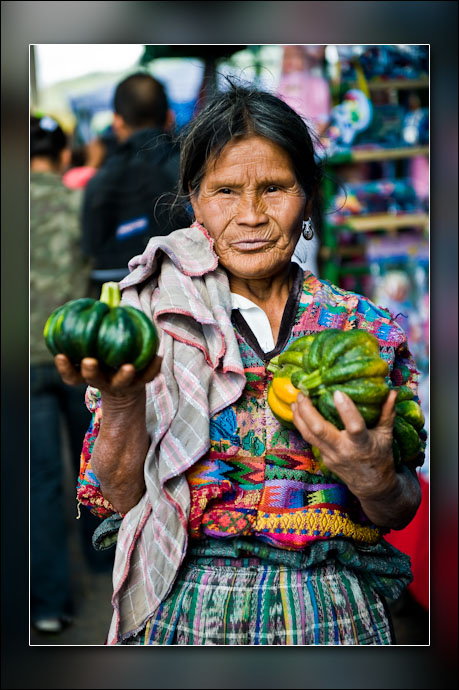 Old woman in the market