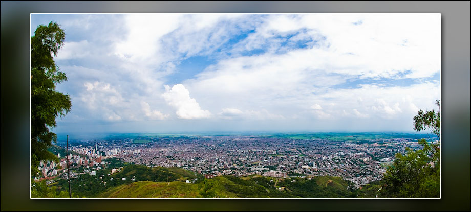 Cali, Colombia, from the hill where Cristo Rey is located.
